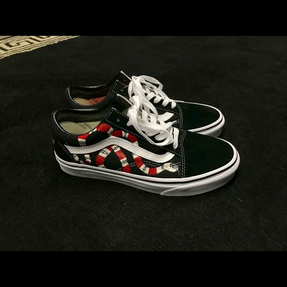 722817cc5 Vans Shoes | Mens Hand Painted Gucci Snake Oldskool | Poshmark